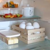 ★冷蔵庫の使いづらいを木箱で解消?!ちょっとした工夫で使いやすく