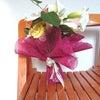 ナチュラルステムの花束2種の画像