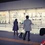 名取駅で展示はじまる…
