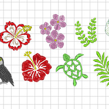 ハワイアン刺繍シリー…