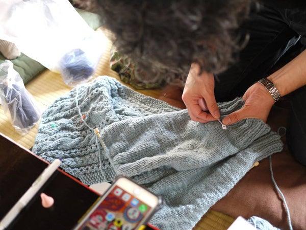 ニット男子部 man who knit
