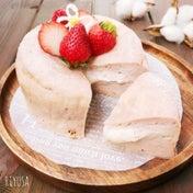 フルーチェ使って焼くまで5分❤️苺のとろ〜りチーズケーキ