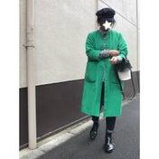 ZARAギンガムシャツに太ベルト / yori先行受注会へ!