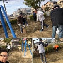 町内会の行事の公園清…