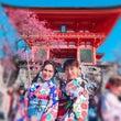 着物で京都 春には春…