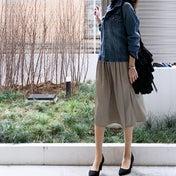 UNIQLO リバーシブルで使えるスカートが便利♪
