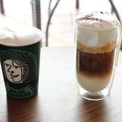 スタバ 白いコーヒー体験HOTとアイス飲み比べ