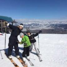 子どもたちのスキーの…