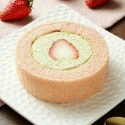 プレミアム苺とピスタチオクリームのロールケーキ☆