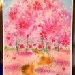 白樺のお地蔵様の桜バ…