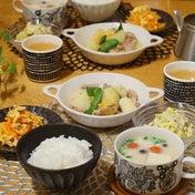 レシピ本からメイン、副菜、スープの晩ごはん