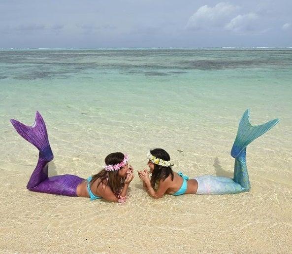 グアムの海で人魚