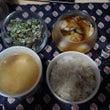 酢牡蠣がメインの晩御…
