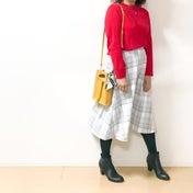 【ユニクロ】送別会の「主役」ニットと【GU】春スカートでコーデ♪