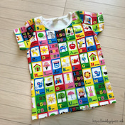 しまパト♡カラフルなアルファベット柄が魅力的♪キッズTシャツ