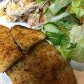 白身魚のチーズ焼き