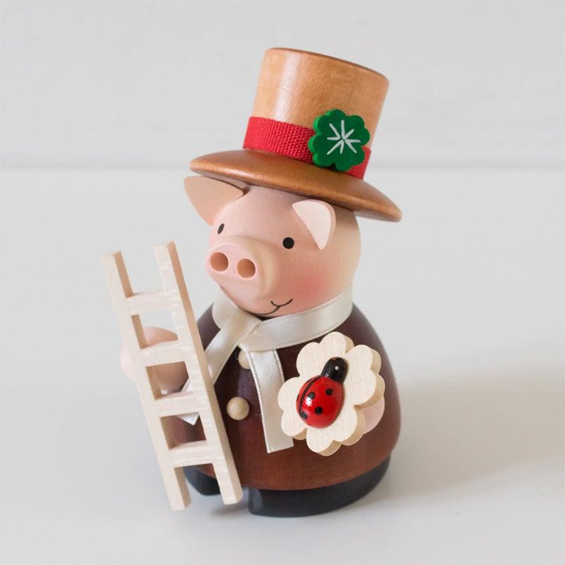 煙出し人形 幸運のブタの煙突掃除屋さんが入荷しました