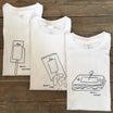 "YAECA print T-shirt ""ken kagami"""