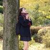 スレンダーディズニー少女・Yuka(城咲友香)ちゃん34『黄葉・制服マフラー少女2』