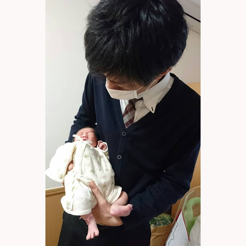 昨日のマタニティフォトのご出産報告で届いた写真♡