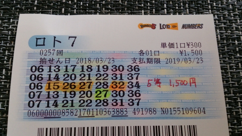 当選速報 ロト7