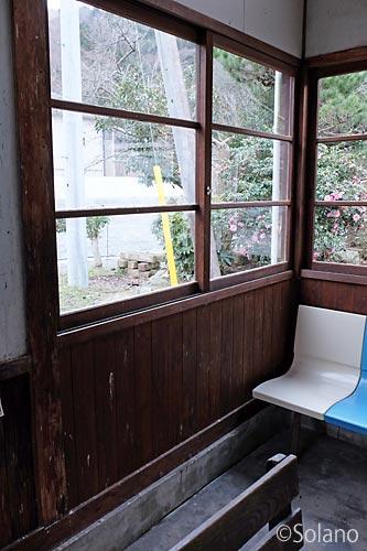 川平駅の木造駅舎、改修部分