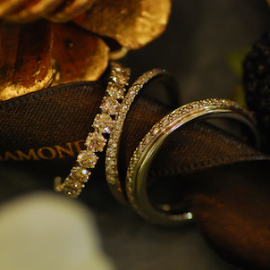 重ね着けを楽しみたいエタニティリング -BROWN DIAMOND-の画像