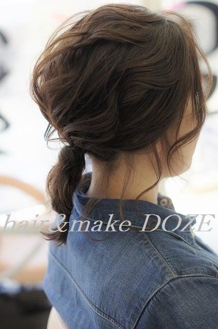伸ばしかけの髪を編み込んで。