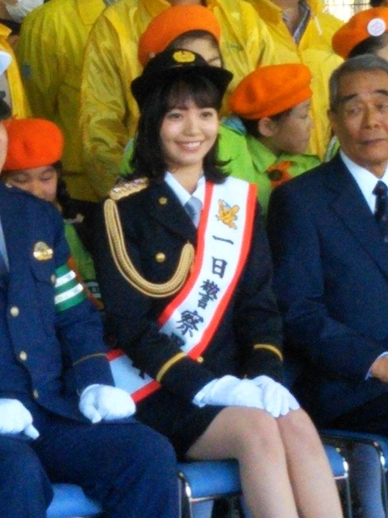 応援している山根千佳さん♡初めての1日警察署長!自分久々観に行き会えて♡「最高な週末」♪♡