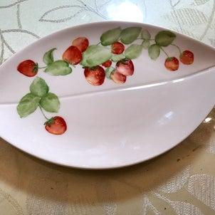 イチゴのプレート(生徒様作品)の画像