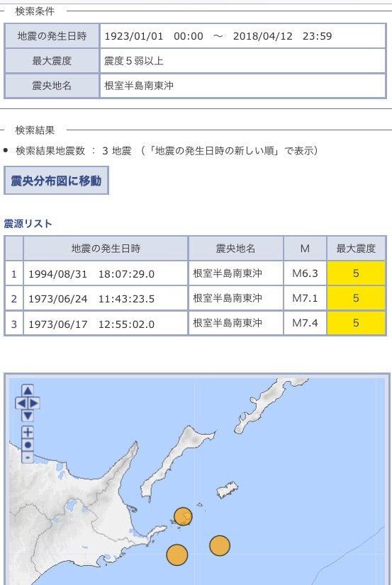 根室半島南東沖地震 震度5弱   H...