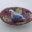鳥付き楕円小皿