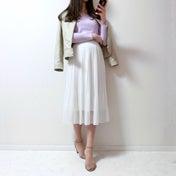 【UNIQLO】名品スカートでほんのり甘みを加えた2色コーデ♡