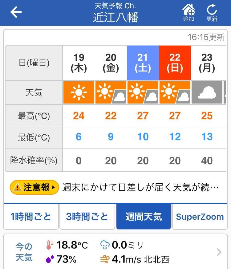 天気 予報 近江 八幡 Yahoo!天気・災害 - 天気予報 / 防災情報