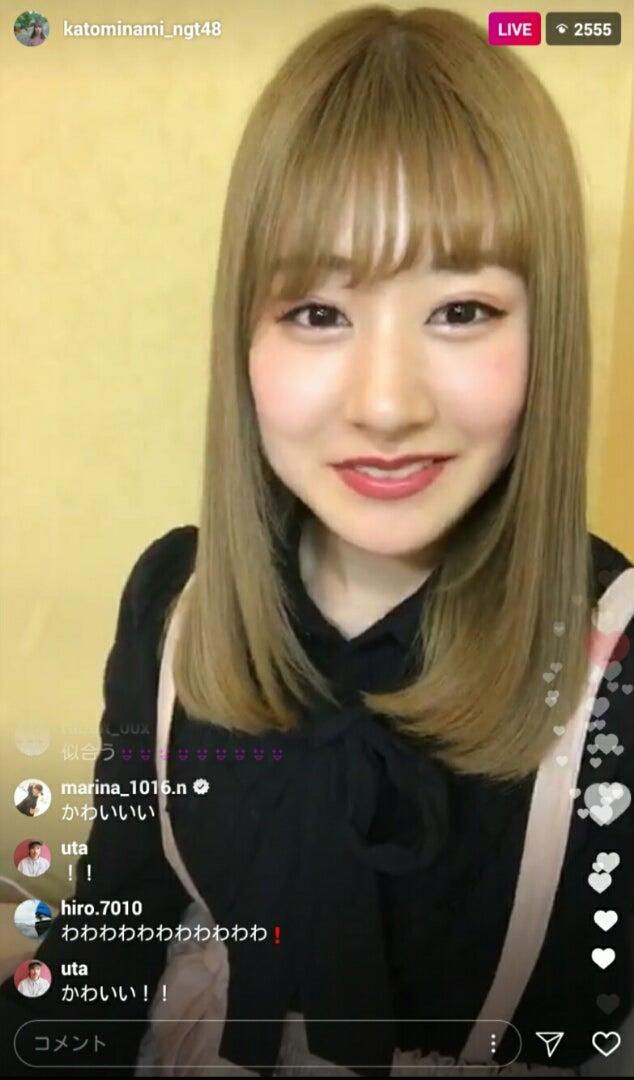 No.3947 かとみなが金髪になっちゃった!! | NGT48 新潟のヲタになり ...