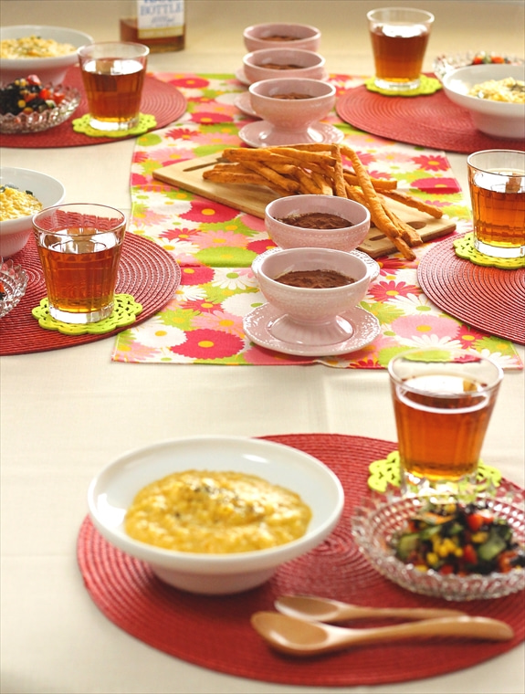 柏料理教室 マクロビイタリアン テーブル
