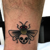 tattoo:black fly:american traditionalの画像