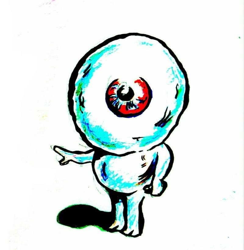水木しげる風目玉のおやじカラーイラスト ヒーリングアーティスト