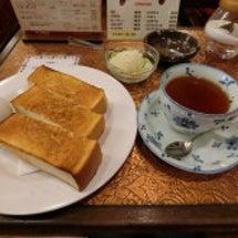 厚切りバタートースト…