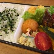 【娘が詰めたお弁当☆深いお弁当箱・詰め方のコツ】