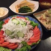 【昨日の晩ごはん☆冷しゃぶサラダ】