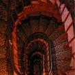 昔の写真 螺旋階段
