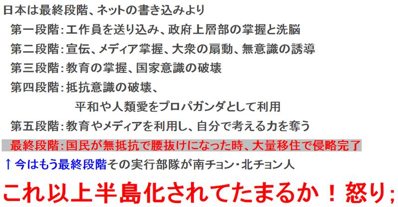 silent invasion 日本の現状