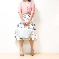 【しまむら】ハサミでチョキンとアレンジ!?爽やかブーケ柄スカートでコーデ♪の記事に添付されている画像