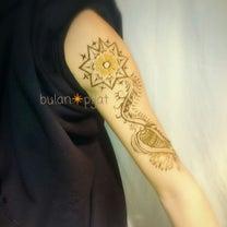 男性 腕にヘナタトゥー ハーブの消えるタトゥーの記事に添付されている画像