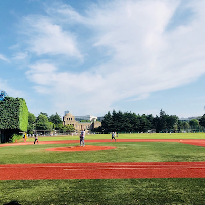 紫外線ガードして野球の試合の応援@神宮外苑軟式球場の記事に添付されている画像