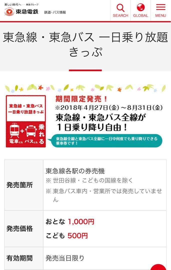 東急 バス 一 日 乗車 券