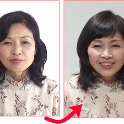 【似合う髪型診断】50代女性の変身事例の記事に添付されている画像