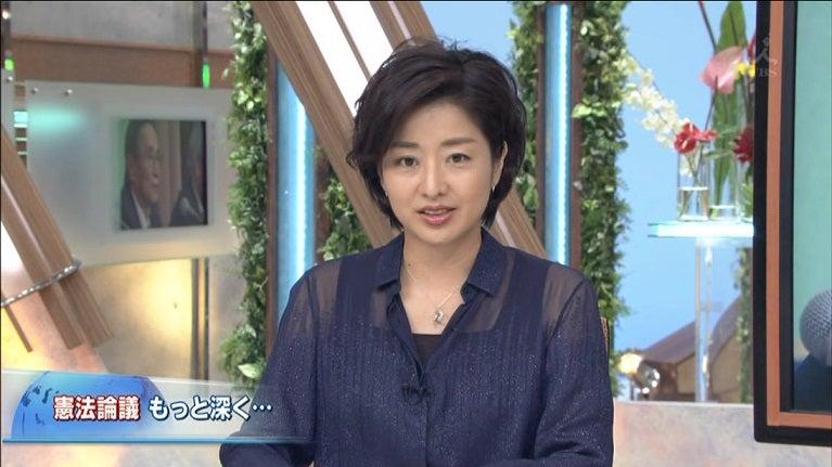 フリー女子アナのTVPhoto報道特集 膳場貴子 04/28