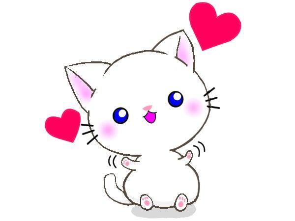 かわいい白猫イラスト お絵描きイラスト てんじゅどう 天樹堂